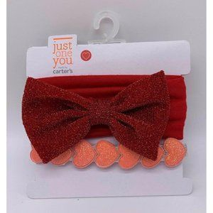 Just One You Carters Headbands Baby Infant Red Bow